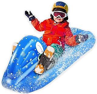 CARACHOME Luge Bouée Gonflable, Coureur de Luge à Neige Robuste, Grand traîneau à Ski en PVC respectueux de l'environnemen...