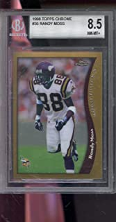 1998 Topps Chrome #35 Randy Moss ROOKIE RC BGS 8.5 Graded Football Card NFL