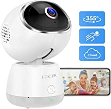 $49 » Wireless Security Camera UOKIER WiFi Indoor IP Camera Pet Camera Pan/Tilt/Zoom, 1080P Baby Monitor with Smart Motion Detection, Motion Tracking, Night Vision, 2-Way Audio, Support TF/Cloud Storage