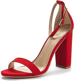 red suede high heels