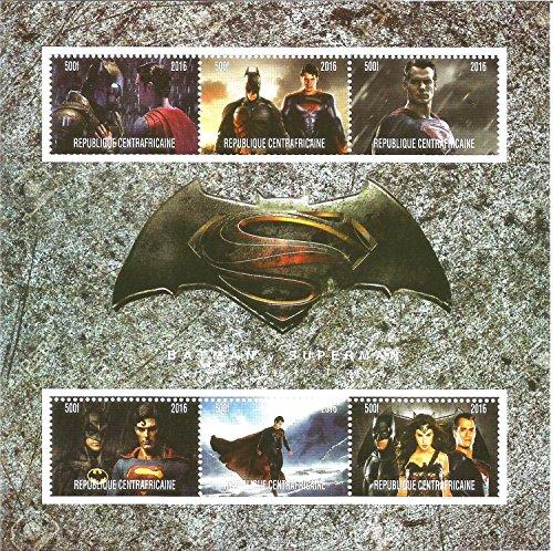 Francobolli da collezione – Batman V Superman Marvel DC Comics MNH timbro foglio 2016
