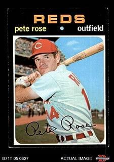 1971 Topps # 100 Pete Rose Cincinnati Reds (Baseball Card) Dean's Cards 5 - EX Reds