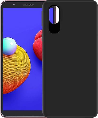 Hupshy Soft TPU Back Cover for Samsung Galaxy M01 Core Black