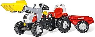 Rolly Toys 023936 - rollyKid Steyr CVT 6165 Trettraktor mit Anhänger für Kinder von 2,5 bis 5 Jahren, Heckkupplung