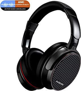 Ausdom ANC7 Active Noise Cancelling Wireless Bluetooth Headphone - Best Bass & Quiet Comfort,Black