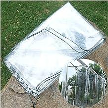 JIANFEI Transparant dekzeil kunststof afdekking, winddichte warmte-isolerende folie voor tuin PVC buiteninstallaties, balk...