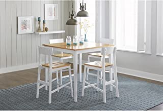 Progressive Furniture Christy Counter Table, Light Oak/White