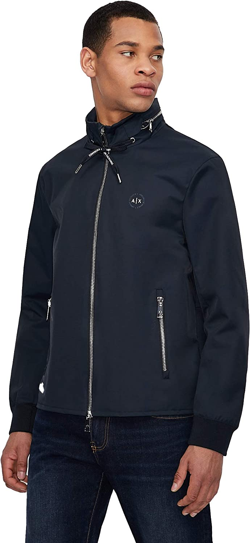 AX Armani Exchange Men's Cotton Nylon Zip Up Blouson Jacket