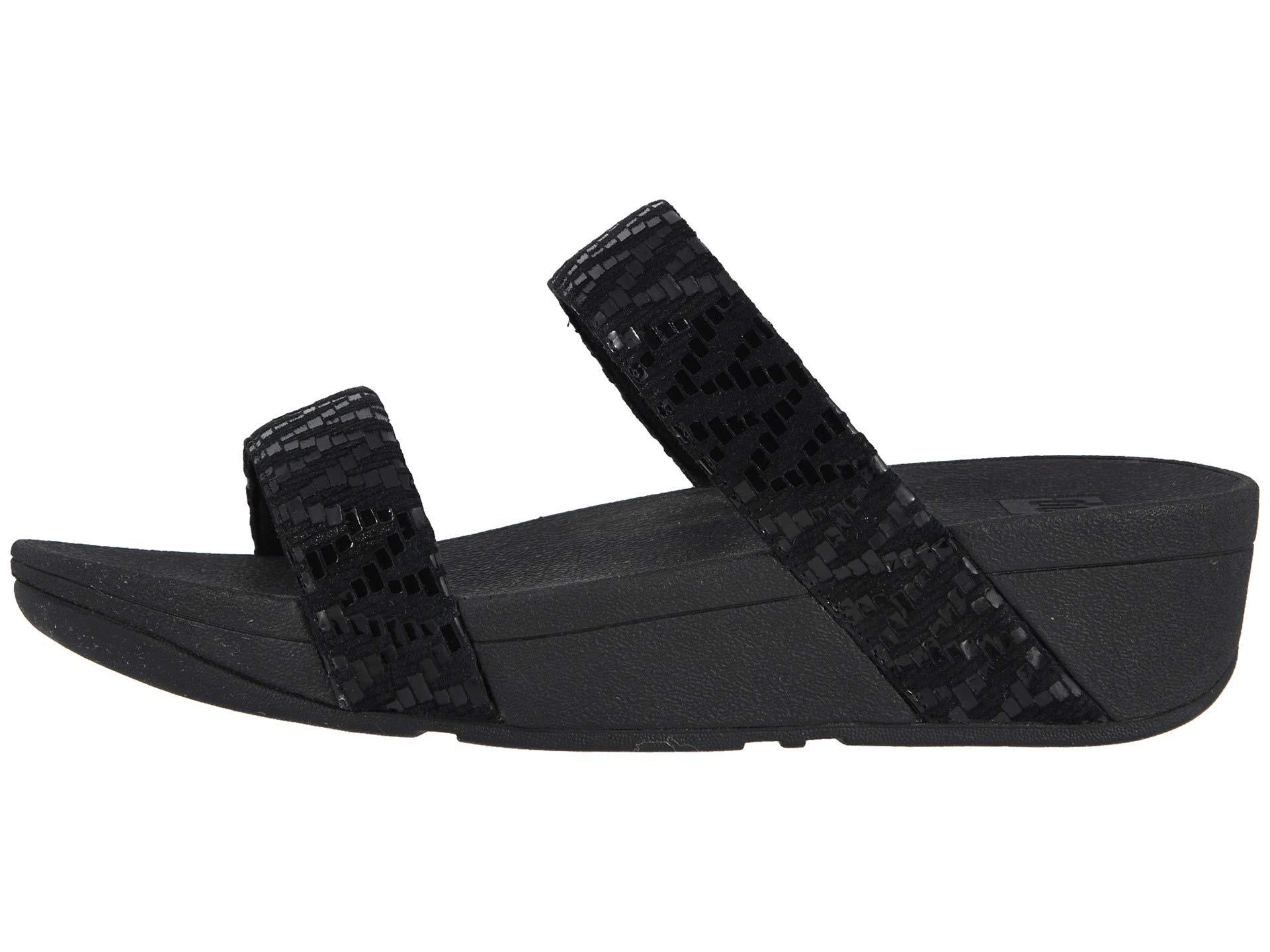 c561779fc305 Chevron Slide Sandals Black Lottie Fitflop 5p1gWnq1z