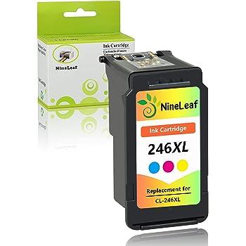 NineLeaf Remanufactured Ink Cartridge Compatible for Canon PG-245XL CL-246XL PG-243 CL-244 PIXMA MG2520 MG2920 MG2922 MG2924 MG2420 MG2522 MG3022 MG2555 MX492 2 Black 1 Tri-Color,3 Pack