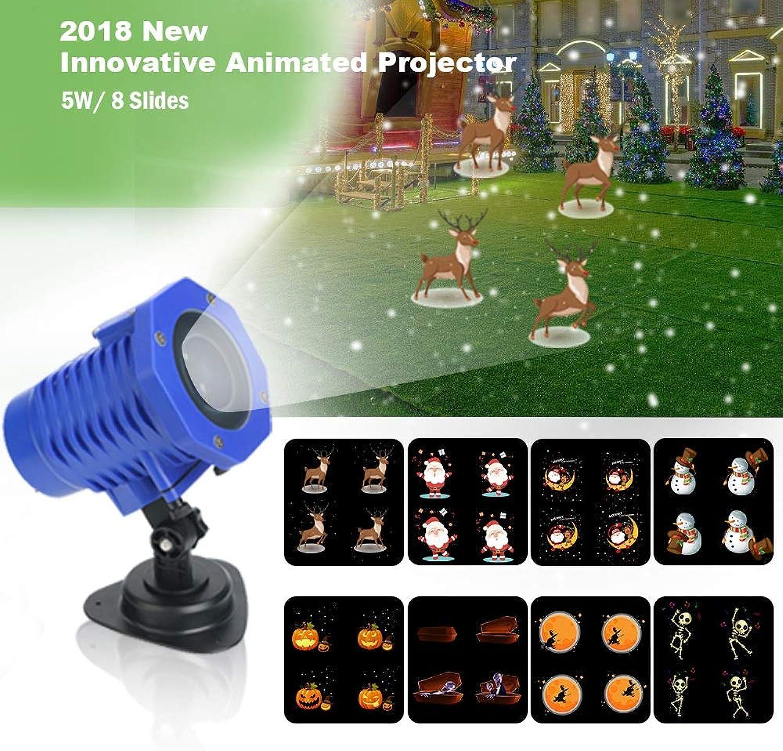 Weihnachtsauenlicht Feiertags Dekorations Bewegungs Muster 8 Modelle Fernsteuerungsauenlicht Erscheinen IP65 imprgniern und Sicherheitsausrüstung