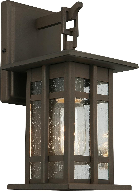 High order EGLO 202887A Outdoor Wall Bronze Matte 10.00x5.00x6.13 Light Outlet sale feature