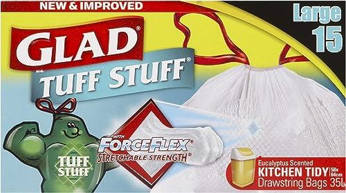 Glad Tuff Stuff Kitchen Tidy Bags, 15 count