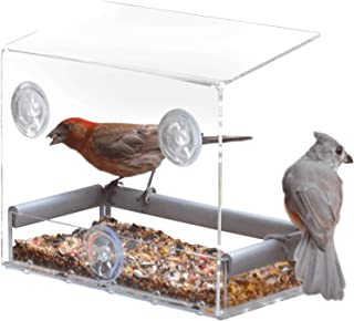 Petfusion Tranquility in Window Bird Feeder and Wild Birds Unlimited Knowing Your Feeder Birds' Pamphlet Bundle (2 Pieces)