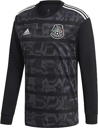 adidas Mexico Home Jersey Men's Soccer Long Sleeve