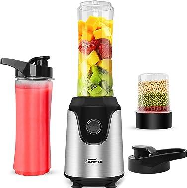 Blender for Shakes and Smoothies, Premium Smoothie Blender, Powerful Personal Blender for Ice Milkshake /Frozen Fruit Vegetab