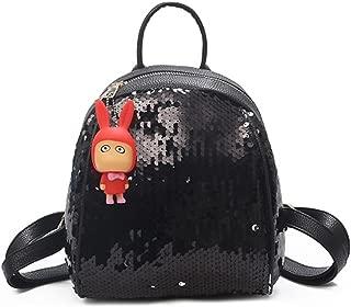 Pu Leather Backpack Purse Sequins Womens Backpack Bag Small Back Pack Backbag Femme 2018