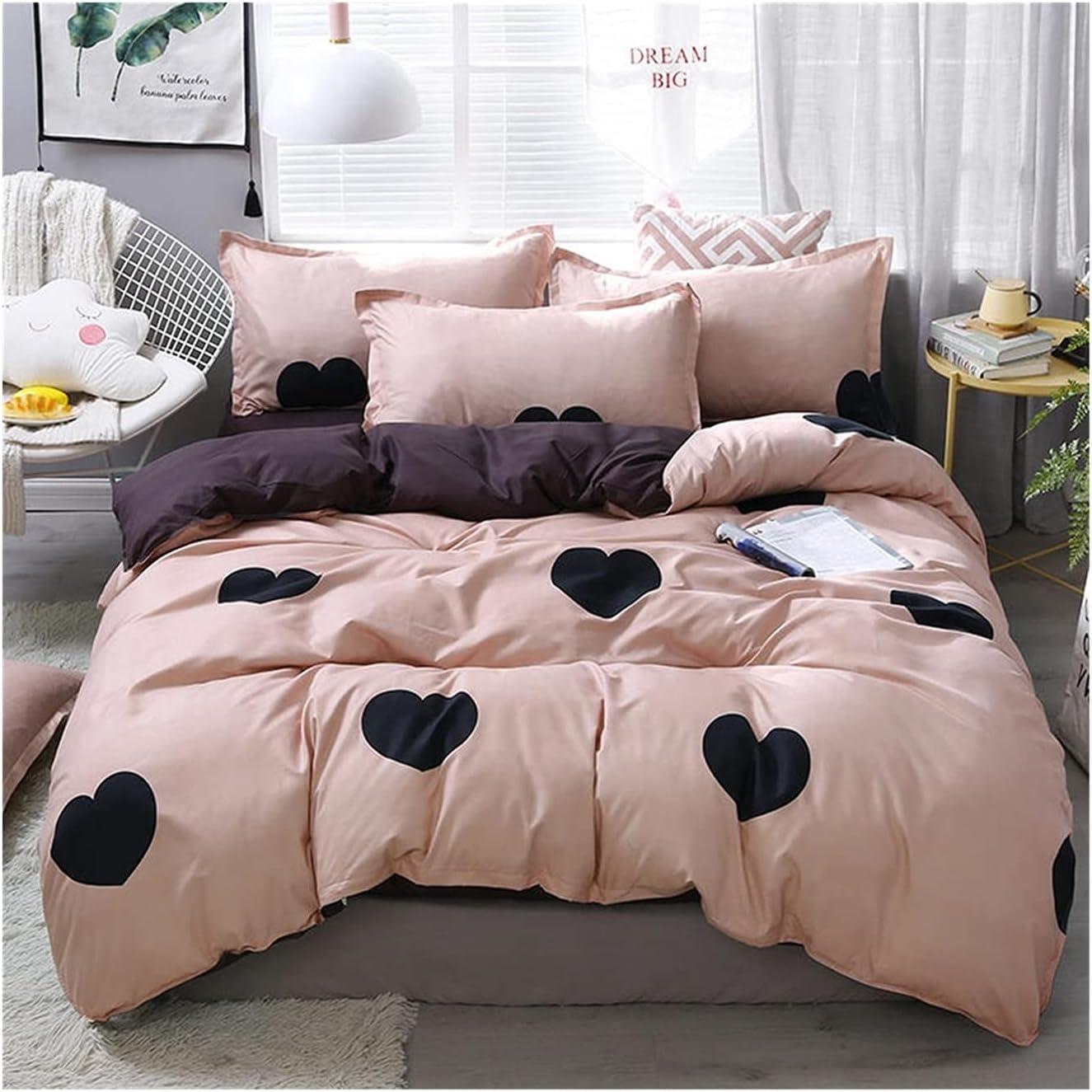 LSDJ Max 86% OFF QMDSH Home Brand Cheap Sale Venue Textile Girl Bedding Duvet Peach Pink Set Cover