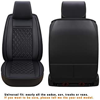 LUCKYMAN CLUB Car Seat Covers for 2 Front Seat Fit Most Sedan SUV Truck - Fit Chevy Cruze Equinox Malibu Impala Silve...