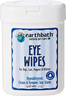 Earthbath All Natural Specialty Eye Wipes, White, 25 Pieces