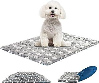 "KROSER 24""/30""/36""/42""/48""/54"" Dog Bed Reversible Mat (Warm & Cool) Stylish Pet Mat Pad High Density Foam Machine Washable..."
