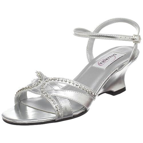 4bd52d582b57 Silver Wedge Wedding Shoes  Amazon.com