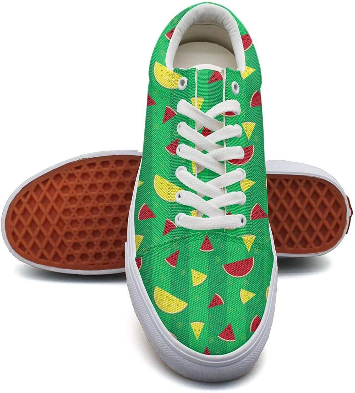 Cute Watermelon Summer Time Sneakers for Women Lo-Top Breathable On Running shoes