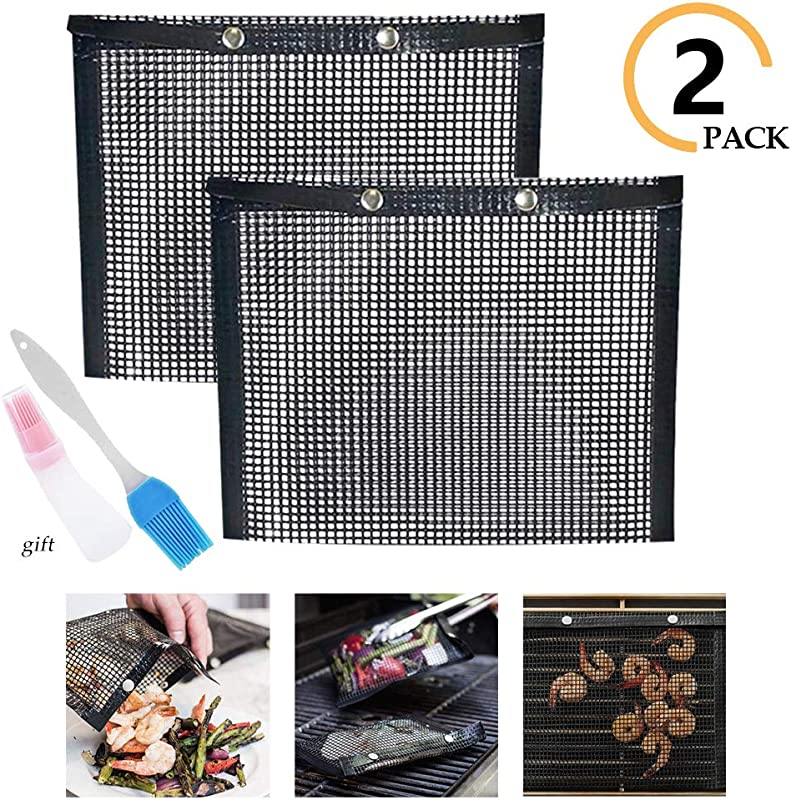 Non Stick Mesh Grilling Bag Non Stick Baking Grilling Bag BBQ Grill Mesh Baked Bag High Temperature Resistance Reusable Easy To Clean Outdoor Picnic Tool For Outdoor Picnic Cooking BBQ