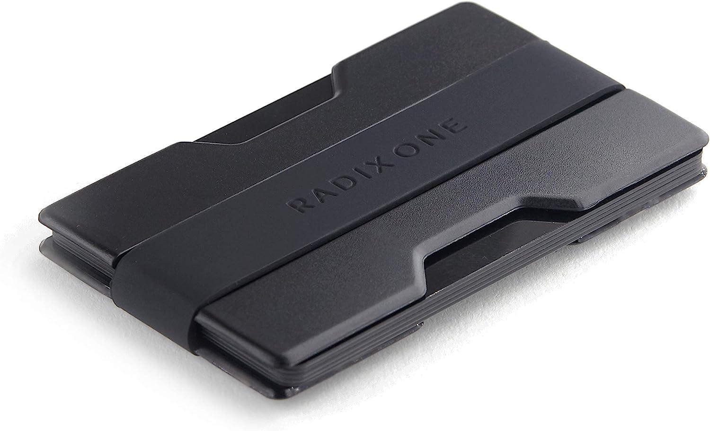 Radix One Slim Wallet (Black/Black) - Minimalist Ultralight Thin Polycarbonate Money Clip