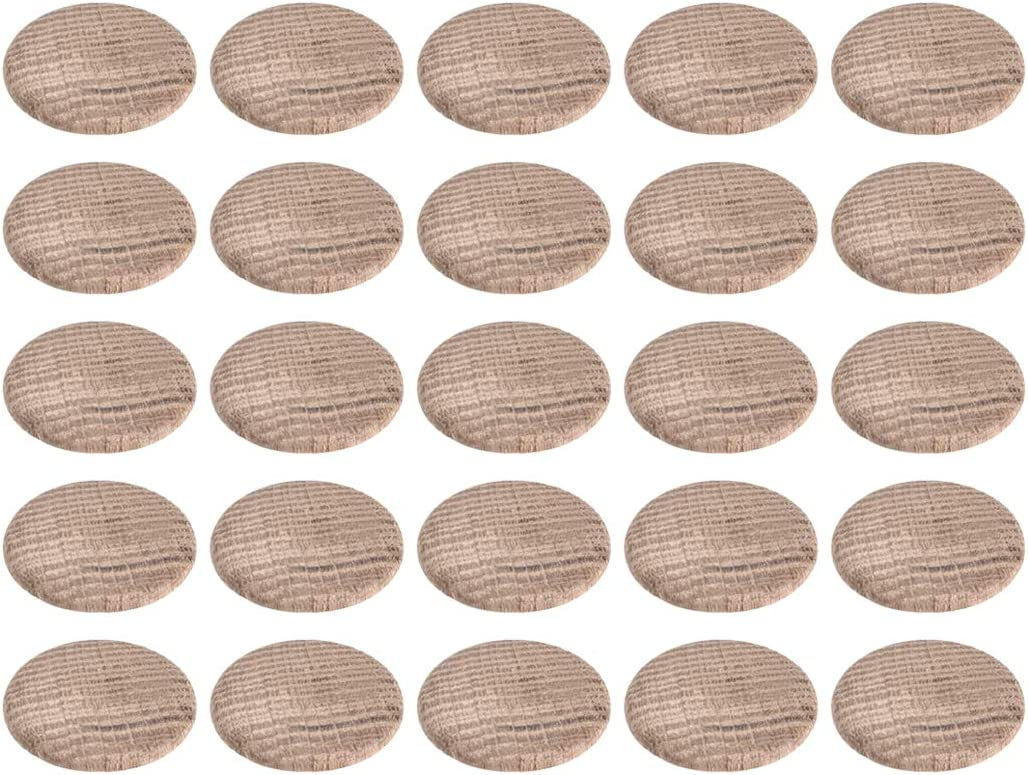 uxcell Wood Button Plugs 1 Inch Furnitur Hardwood Oak Hole Ranking TOP11 Topics on TV Screw