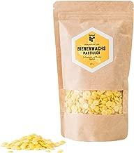beegut Bienenwachs Pastillen, 200g natürliches reines Bienenwachs, zertifizierte Qualität, geeignet für Naturkosmetik, Bienenwachstücher, Kerzenherstellung und Leder-/Holzpflege