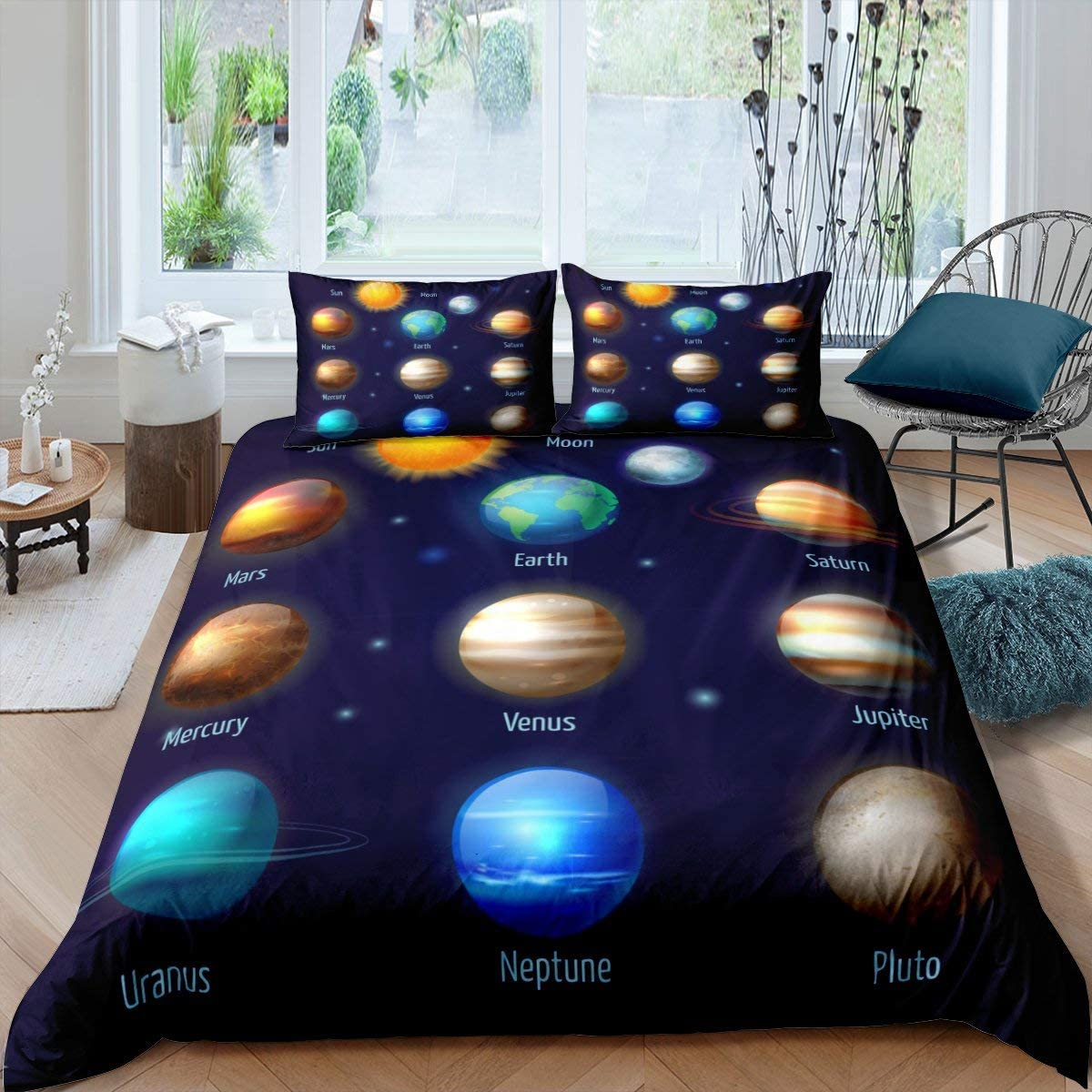 祝日 Erosebridal Outer Space Comforter for Cover 正規品スーパーSALE×店内全品キャンペーン Duvet Planets