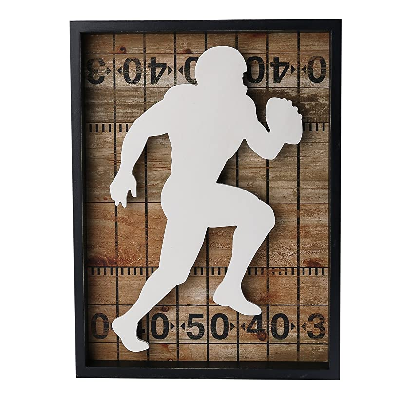 NIKKY HOME Outdoors Sports Football Wooden Framed Wall Art Signs, 12