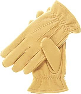 Men's Deerskin Winter Gloves with Thinsulate Lining