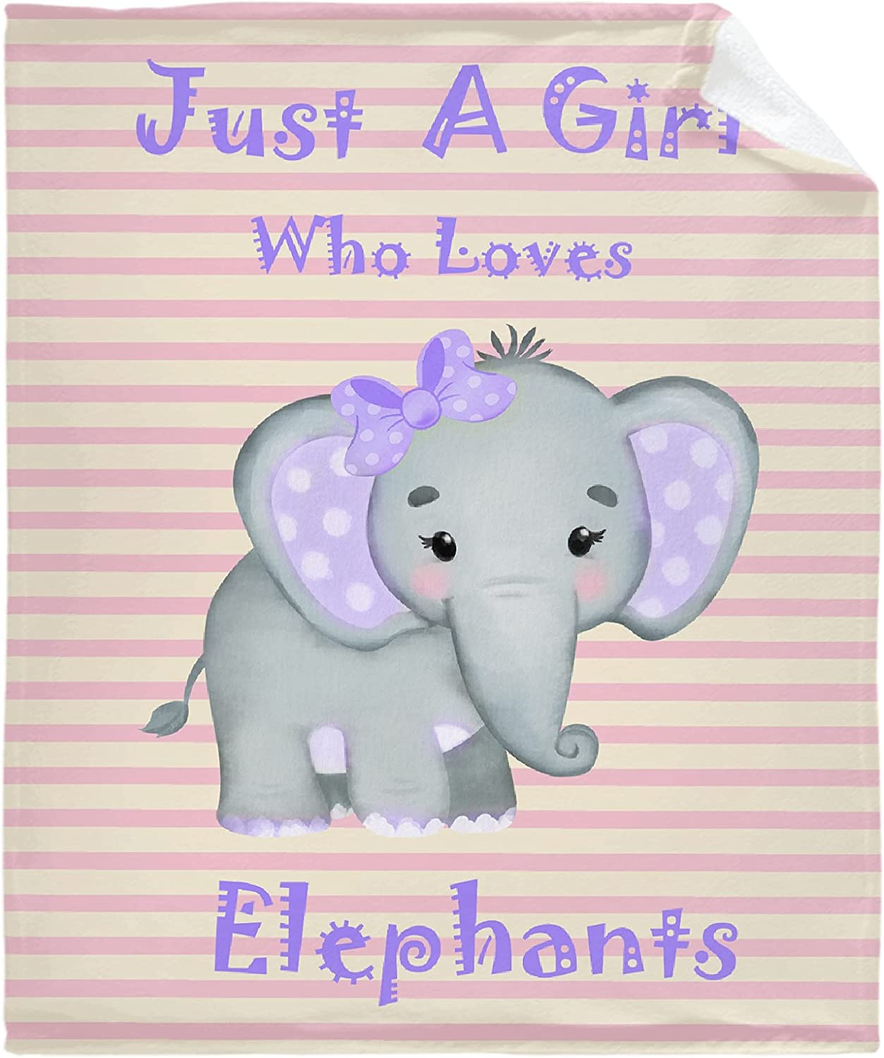 Just A Girl Who Loves Baby Throw Pink Sales Fort Worth Mall of SALE items from new works S Elephants Blanket Yellow