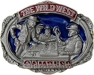 The Wild West Gambler Belt Buckle with Presentation Box