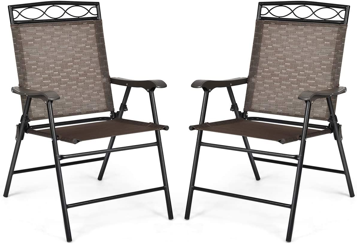 Giantex High order Set of 2 Patio Chairs Outdoor B Folding Surprise price for Lawn