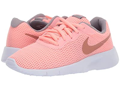 Nike Kids Tanjun (Little Kid) (Pink Tint/Metallic Rose Gold/Atmosphere Grey) Girls Shoes