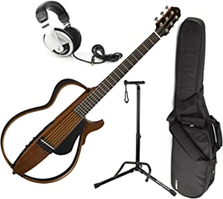 Yamaha SLG200S NT Steel String Silent Guitar (Natural) w/Gig Bag, Stand, and He