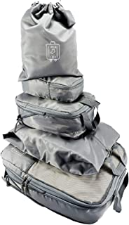 5 Set Compression Travel Packing Cubes by TheNextTrip Bag Packing Organiser Cube Set for Travel, Perfect Packing for Carry-on Baggage