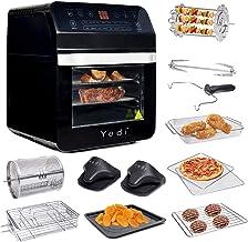 Yedi - Freidora de aire XL, horno, paquete total, 12 Litros, kit de accesorios de lujo, recetas, sin BPA, apagado automáti...