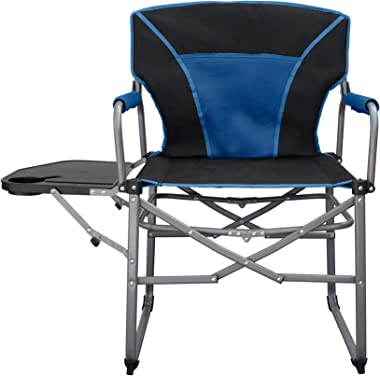 E-Z UP CHOUTDIRBLBK Commander Outdoor Director's Chair, Dual Tone Blue and Black