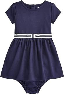 Ralph Lauren Baby Girl Striped-Bow Ponte Dress