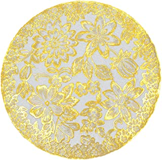 Linker Wish Paper Doilies Gold Round Lace Paper Doilies/Doyleys,Vintage Coasters/Placemat Craft