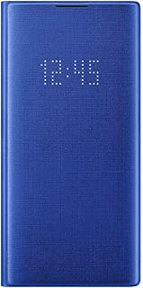 Samsung Official Galaxy Note10 / Note10+ Case, LED View Wallet Cover Case (Blue, Galaxy Note 10+)