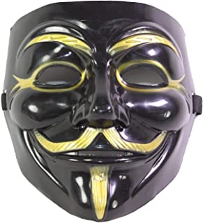 black and gold guy fawkes mask
