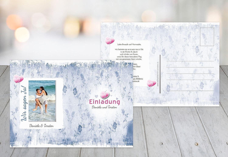 Kartenparadies Hochzeitskarte Save-the-Date Din romantische Liebe, hochwertige Save the Date Karte zur Hochzeit   60 Karten - (Format  148x105 mm) Farbe  MattBlauDunkler B01NBWKM4M   Sale Online