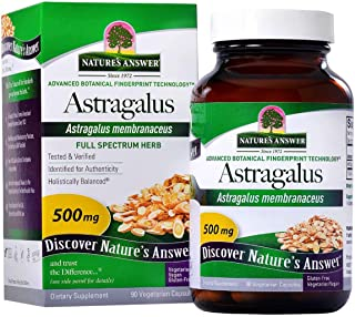 Nature's Answer Astragalus Root Capsules 90 Count | Immune Support | Promotes Cardiovascular Health | Natural Stress Reliever
