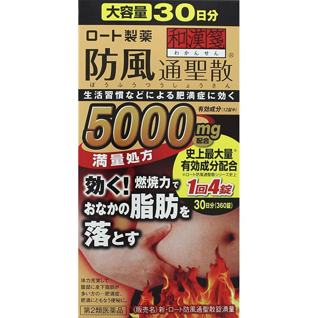 石ほめる先【第2類医薬品】新?ロート防風通聖散錠満量 360錠