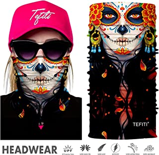 TEFITI Balaclava Face Mask, Multifunctional Headwear Neck Gaiter for Men, 3D Dust Mask Sun UV Dust Wind Proof for Outdoor Camping, Running, Motorcycling, Fishing, Hunting